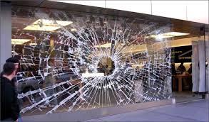 vitrine brisée