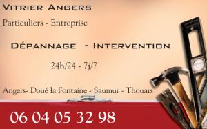 Vitrier Angers - vitrier Bouchemaine - vitrier Trélazé - vitrier Avrillé